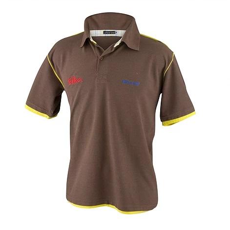 Polo Piquet Diferenciada, com tecido xadrez no colarinho, com vivo imitando camiseta por baixo, Vivo