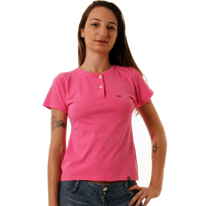 Polo feminina para uniforme