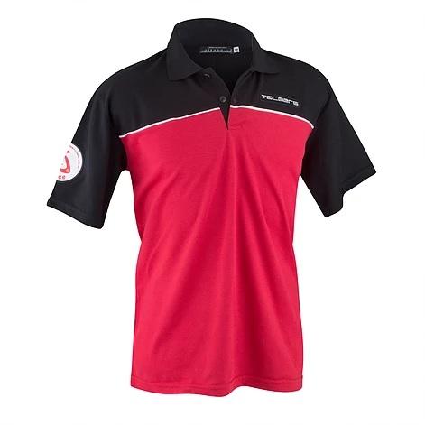 Camiseta Polo Promocional, em Duas Cores, com recorte na linha do peito na frente e nas costas, cont